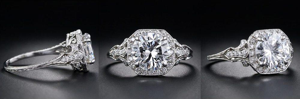 Diamond Edwardian style engagement ring