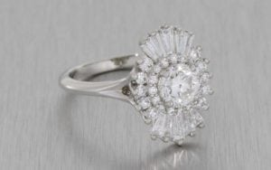 Art Deco Inspired Multi Stone Diamond Ring - Portfolio