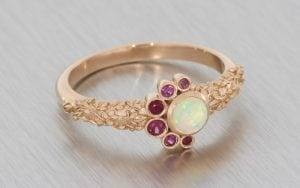 Bejeweled, Opal, Organic Commitment Ring - Portfolio