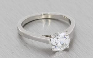 Contemporary Solitaire Engagement Ring - Portfolio