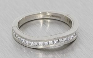Contemporary vintage fitted wedding band  - Portfolio
