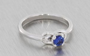 Cornflower Blue Sapphire Love Knot - Portfolio