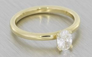 Elegant Diamond Solitaire And Gold Band – Portfolio