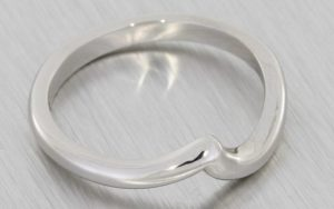 Custom Fitted Platinum Wedding band