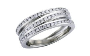 Channel set Wrap palladium ring set - Ring of the Week - Portfolio