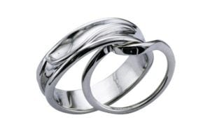 Bespoke organic wedding bands for him and her - Portfolio