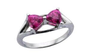 Pink Sapphire Bow ring - Portfolio