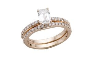 14ct rose gold engagement ring and wedding ring set - Portfolio