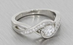 Multi-Level Swirl Engagement Ring - Portfolio