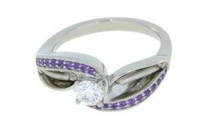 Bespoke Designer Flower Style Engagement Ring - Portfolio