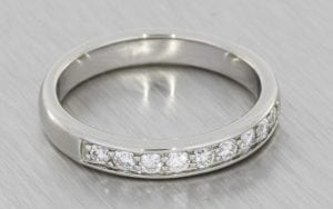 Platinum partial eternity band - Portfolio