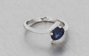 Contemporary Oval Sapphire Bypass Ring - Portfolio