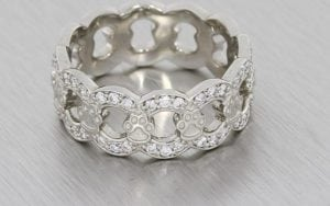 Unique Round Brilliant Diamond Set Band Detailed With Playful Pawprints