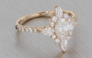 Enchanting Rose Gold Ballerina Ring - Portfolio