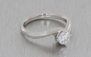 Elegant Platinum Solitaire Engagement Ring - Portfolio