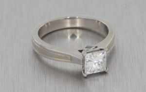Textured Palladium Moissanite Engagement Ring - Portfolio