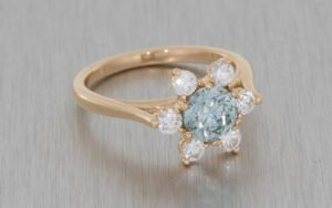 Elegant Floral Rose Gold Diamond Engagement Ring - Portfolio