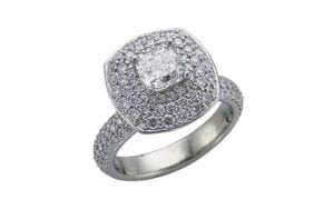 Palladium Pave set engagement ring - Portfolio