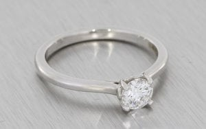 Palladium Round Lab Grown Solitaire