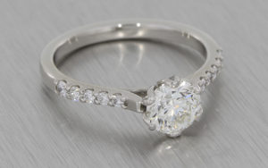 Floral 1ct Diamond Ring