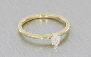 Delicate Oval Diamond Solitaire