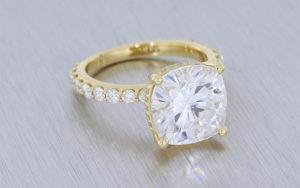 Cushion Moissanite Engagement Ring