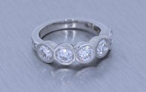 Glamorous bezel set proposal ring